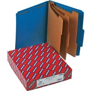 "Smead Classification Folders, 8-Section, 2/5 Cut, Dark Blue, LETTER-size Holds 8 1/2"" x 11"", 10/Bx"