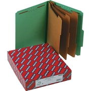 "Smead Classification Folders, 8-Section, 2/5 Cut, Green, LETTER-size Holds 8 1/2"" x 11"", 10/Bx"