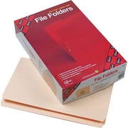 "Smead File Folders, Reinforced Straight Tab, Manila, LEGAL-size Holds 8 1/2"" x 14"", 100/Bx"