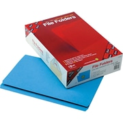 "Smead File Folders, Double-Pli Top, Straight Cut, Blue, Legal,-size Holds 8 1/2"" x 14"", 100/Bx"