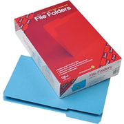 "Smead Top Tab File Folders, 1/3 Tab Cut, LEGAL-size Holds 8 1/2"" x 14"", Blue, 100/Bx"