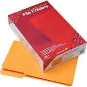 "Smead Top Tab File Folders, 1/3 Tab Cut, Goldenrod, LEGAL-size Holds 8 1/2"" x 14"", 100/Bx"