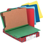 "Smead Six-Section Pressboard Classification Folders, Assorted Colors, LEGAL-size Holds 8 1/2"" 14"", 10/Bx"