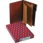 "Smead Classification Folders, 1/3 Tab Cut, 2 Positions, Red, Legal,-size Holds 8 1/2"" x 14"", 10/Bx"