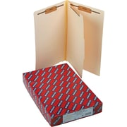"Smead®  End Tab Classification File Folder, 1 Divider, 2"" Expansion, Legal Size, Manila, 10 per Box (29825)"
