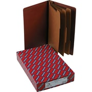 Smead Eight-Section End Tab Classification Folders, Pressboard, Red, Legal,, 10/Bx