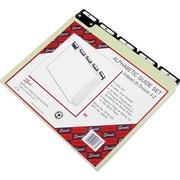 "Smead® Alphabetical Pressboard File Guide, Blank, Gray, 8 1/2""H x 11""W, 25/St"
