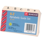 "Smead® Recycled Self-Tab Alphabetical Card Guides, Blank, Manila, 3""H x 5""W, 25/St"