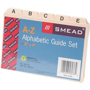 "Smead® Recycled Self Tab Card Guides, Blank, Manila, 4""H x 6""W, 25/St"