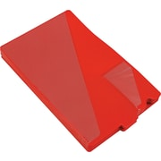 "Smead Vinyl End Tab ""Out"" Guides, Diagonal-Cut Pockets, Red, Legal,-size Holds 8 1/2"" x 11"", 50/Bx"