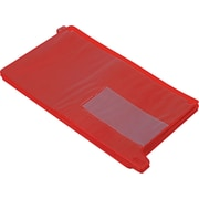 "Smead Vinyl End Tab ""Out"" Guides with Pockets, Recycled, Legal,, Red, 25/Bx"