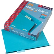 "Smead® Colored Hanging File Folders, Teal, Letter, , Holds 8 1/2""H x 11""W, 25/Bx"