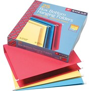 "Smead® Flex-I-Vision® Box Bottom Hanging File Folders, 2"" Capacity, Assorted Colors, Letter, Holds 8 1/2""H x 11""W, 25/Bx"