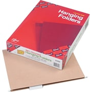"""Smead® 100% Recycled Hanging File Folders, 2"""" Expansion, Tan, Letter, Holds 8 1/2""""H x 11""""W, 25/Bx"""