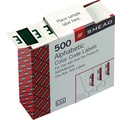 Smead® A-Z Color-Coded Bar-Style Letter in.Ein. End Tab Labels, Dark Green, 1in.x1-1/4,in. 500 Labels/Roll