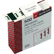 Smead® A-Z Color-Coded Bar-Style Letter E End Tab Labels, Dark Green, 1x1-1/4, 500 Labels/Roll