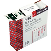 Smead® A-Z Color-Coded Bar-Style Letter N End Tab Labels, Dark Green, 1x1-1/4, 500 Labels/Roll
