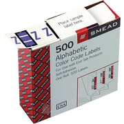 "Smead® A-Z Color-Coded Bar-Style Letter,  ""Z"" End Tab Labels, 500 Labels Per Roll, Lavender"