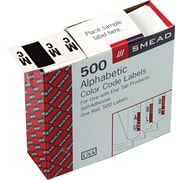 "Smead A-Z Color-Coded Bar-Style Letter, s ""Mc"" End Tab Labels, 500 Labels Per Roll, Brown"