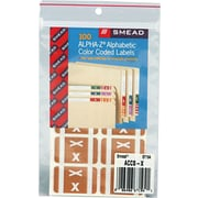 """Color Coded Label, """"X"""", Light Brown, 100 Labels Per Pack"""