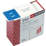 Numeric Labels, 250 Labels/Rolls, 1, Light Blue