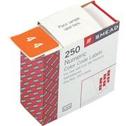 Smead®  DCC Color-Coded Numeric Label, 4, Label Roll, Orange, 250 labels per Roll (67424)