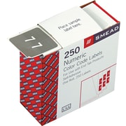 """Smead Numeric Labels, 250 Labels/Roll,  """"7"""" Gray"""