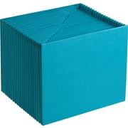 "Smead Expanding File, Open Top, 21-Pockets, A-Z Index, 12"" x 10"", Teal"