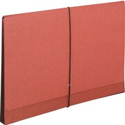 "Super-Tuff Expanding Wallets, 5-1/4"" Expansion, 15-3/8 x 10, Redrope/Manila"