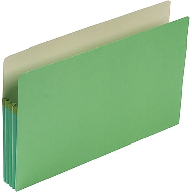 Smead® Colored File Pockets, Legal, 3 1/2in. Expansion, Green, Each