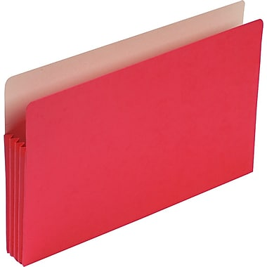 Smead® Colored File Pockets, Legal, 3 1/2in. Expansion, Red, Each