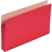 Smead® Colored File Pockets, Legal, 3 1/2 Expansion, Red, Each