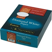 SOUTHWORTH® 25% Cotton Diamond White® Business Paper, 8 1/2 x 11, 24 lb., Wove Finish, White, 500/Box
