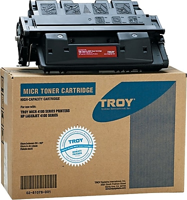 Troy 0281078001 61X Compatible MICR Toner Secure High Yield 10 000 PageYield Black