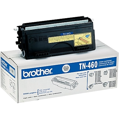 Brother TN460 Black Toner Cartridge, High Yield