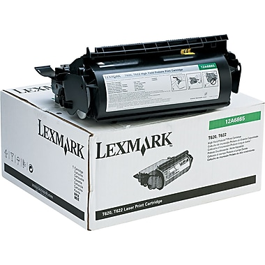 Lexmark™ 12A6865 Black Toner Cartridge, High-Yield