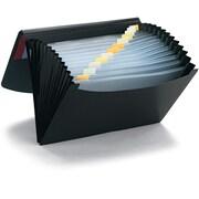Smead Embossed Poly Expanding File, 13-Pocket, Letter Size, Blue/Black