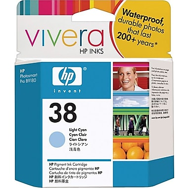 HP 38 Light Cyan Pigment Original Ink Cartridge (C9418A)