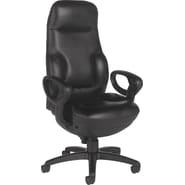 Global Concorde 24-Hour Ergonomic Leather Executive High-Back Chair, Black