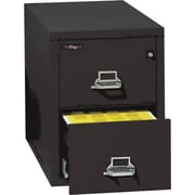FireKing 1-Hour 2-Drawer 25 Letter Fire Resistant Vertical Cabinet, Black, Inside Delivery