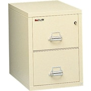 "FireKing 1-Hour 2-Drawer 25"" Letter Fire Resistant Vertical Cabinet Parchment, Truck to Loading Dock"