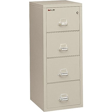 FireKing 1-Hour 4-Drawer 31in. Legal Fire Resistant Vertical Cabinet Parchment, Inside Delivery