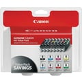 Canon CLI-8 Black and Color Ink Cartridges (0620B015), 8/Pack