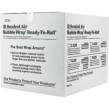 Staples® Extra Wide Bubble Wrap®, 24in. x 175'