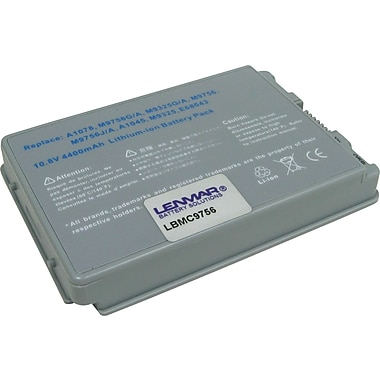 Lenmar Replacement Battery For Apple PowerBook G4 (LBMC9756)
