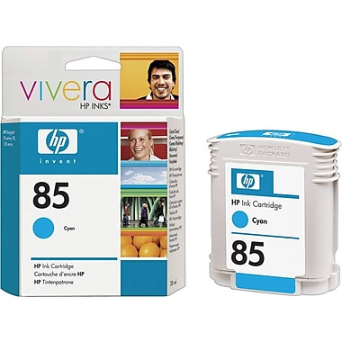 HP 85 Cyan Ink Cartridge (C9425A), 28ml