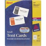 "Avery® Laser & Inkjet Tent Cards, 2"" x 3 1/2"""