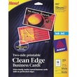 Avery® Clean-Edge 2-Side Printable Inkjet Business Cards