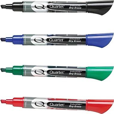 Quartet® EnduraGlide™ Chisel Tip Dry-Erase Markers, Assorted, 4/Pack