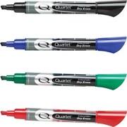 Quartet® EnduraGlide™ Chisel Tip Dry-Erase Markers, Assorted, Dozen